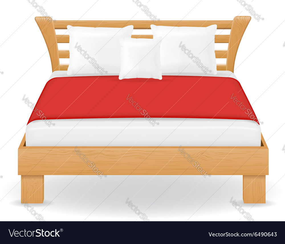 Double bed 04 vector