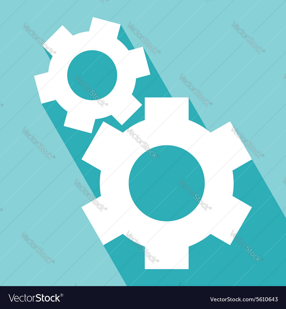 Gear or cog icons vector
