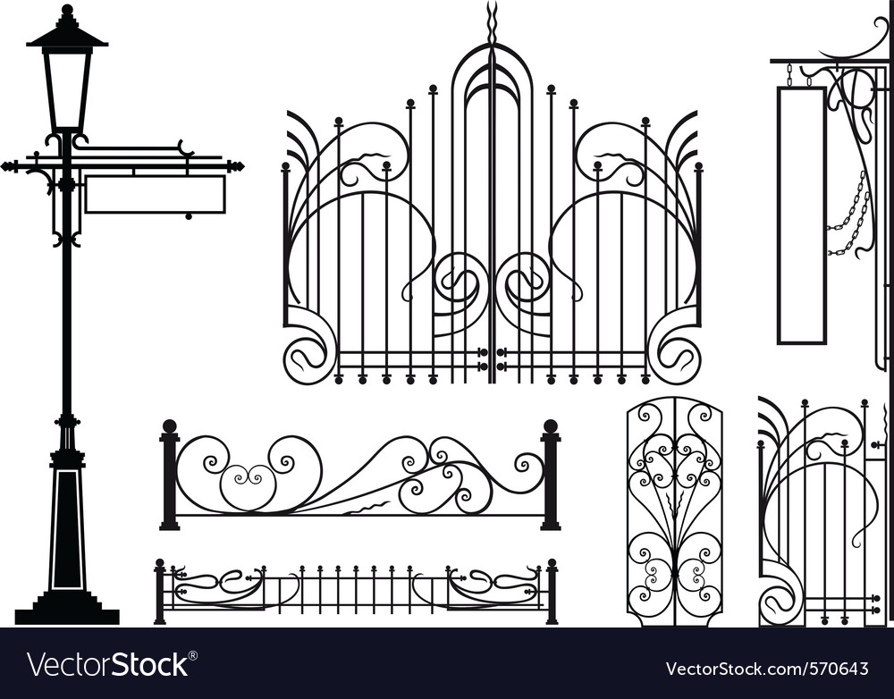 Iron fretwork vector