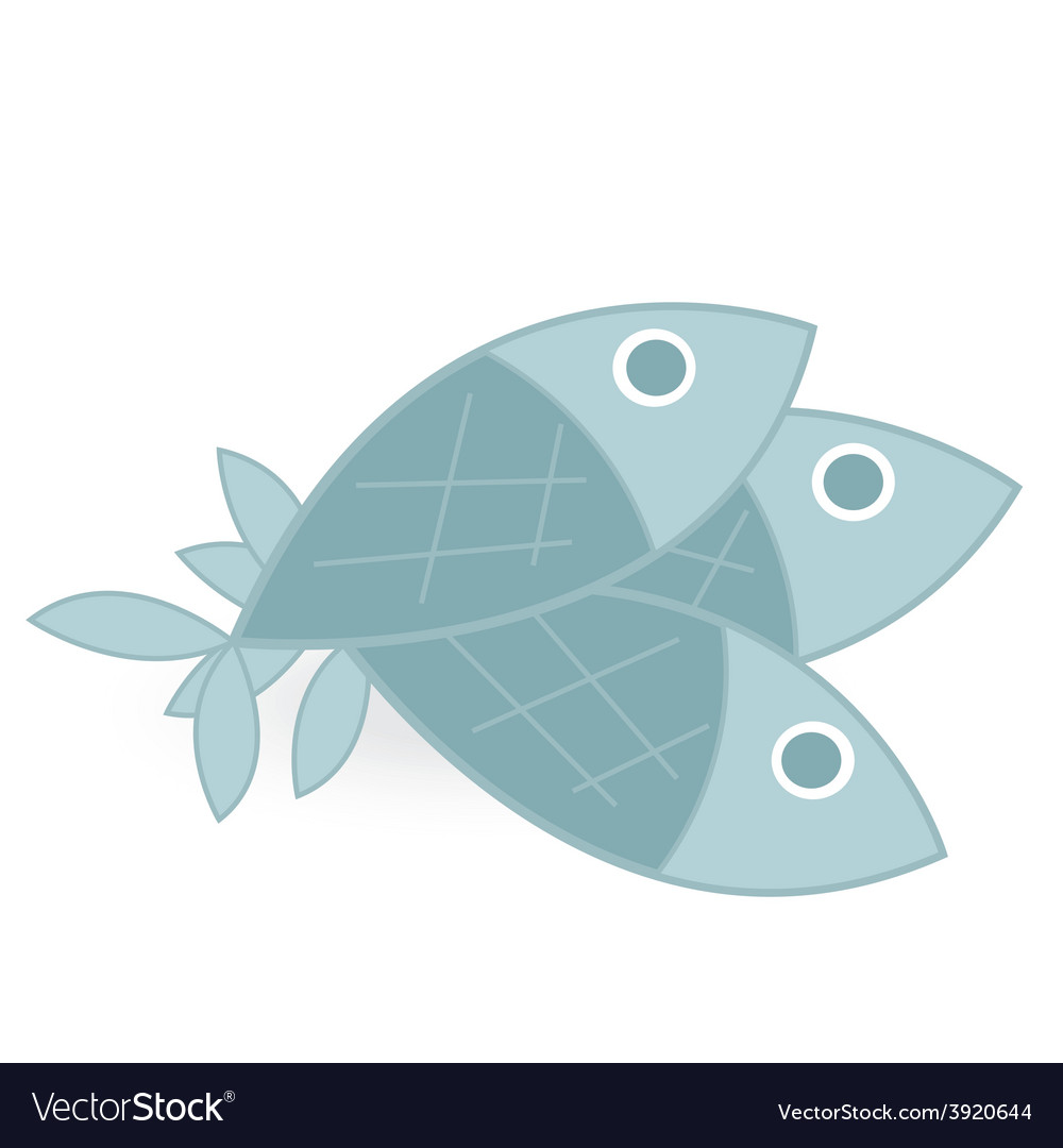 Fish isolated on white background vector