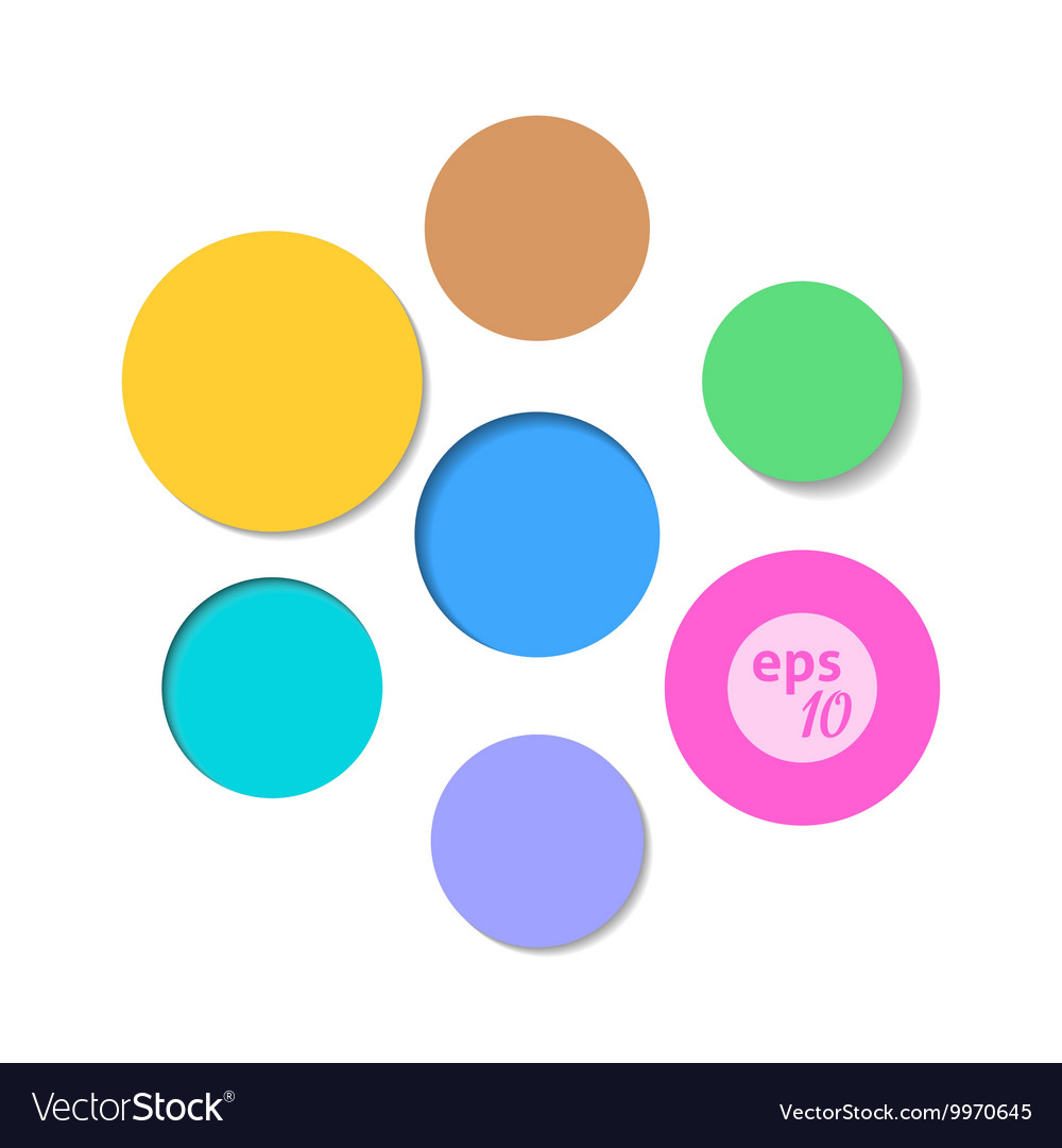 Colorful circle background set vector
