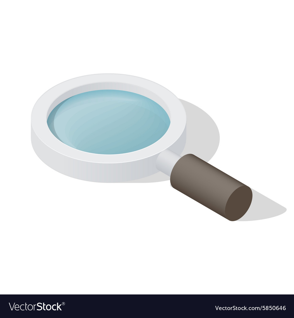 Loupe icometric icon vector