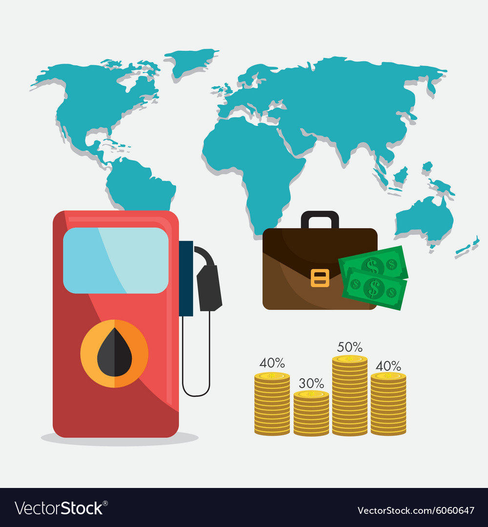 Petroleum and oil industric infographic vector