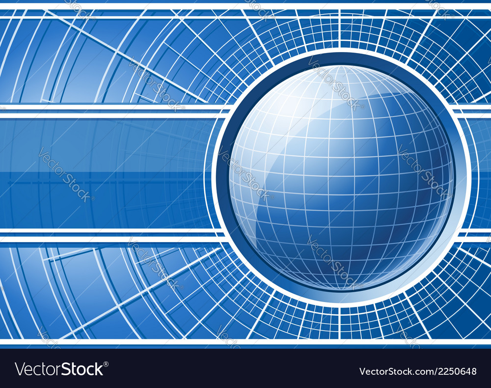 Blue background with globe vector