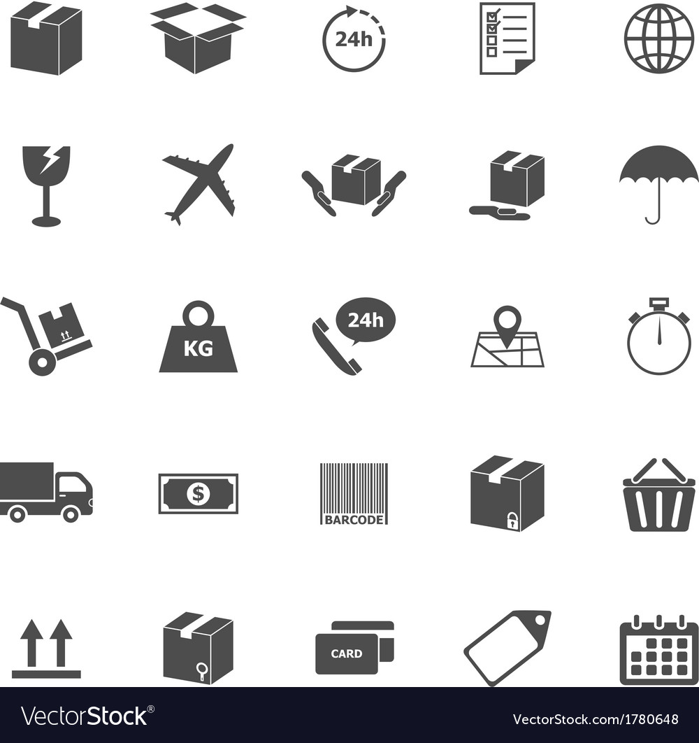 Shipping icons on white background vector