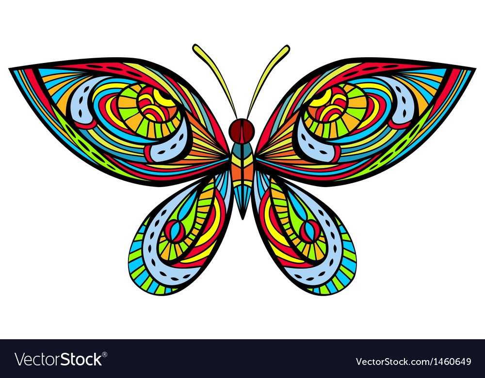 Bright butterfly vector