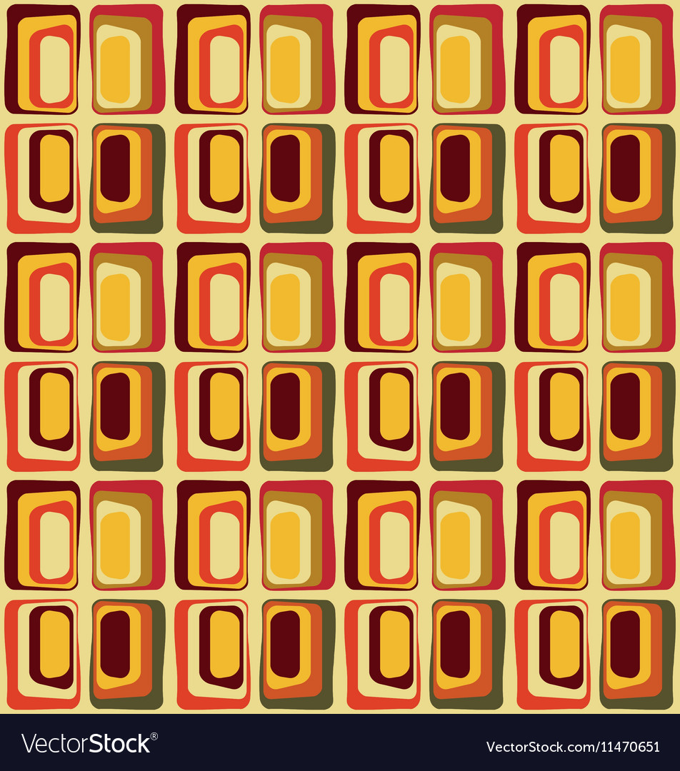 Retro textile inspired by 60s vector