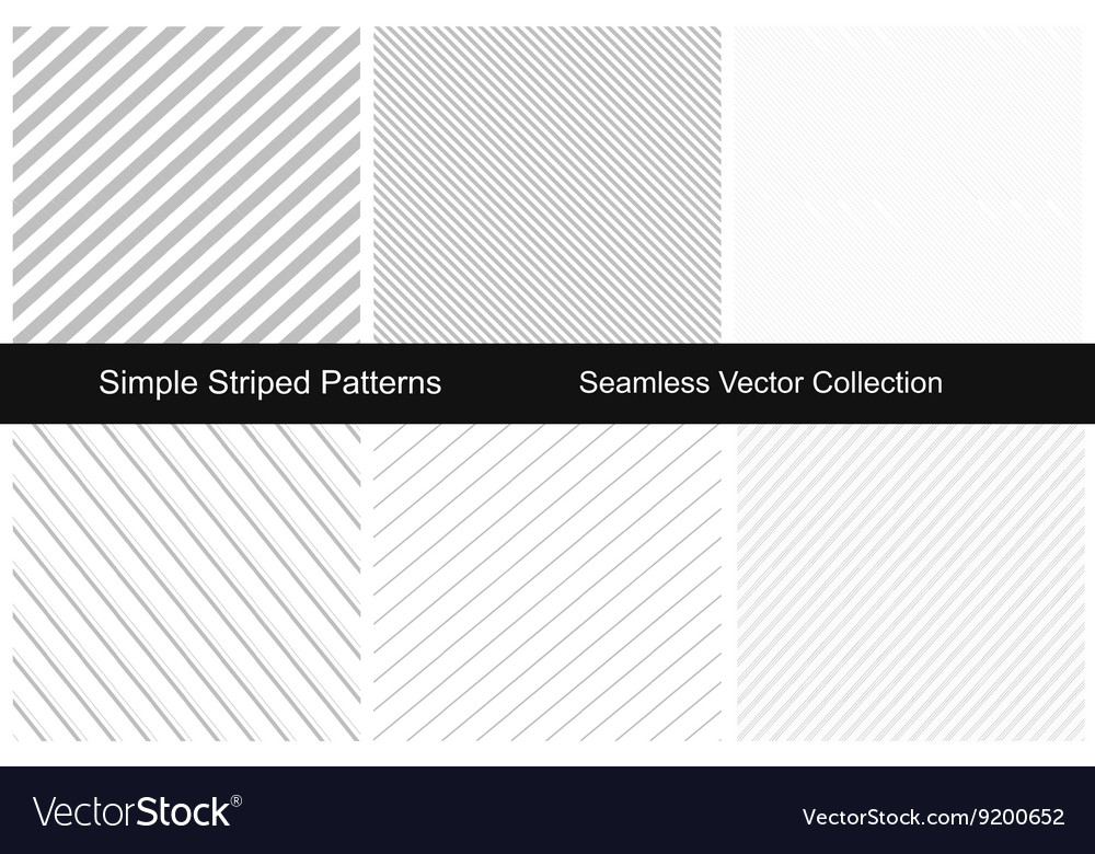 Collection of striped seamless patterns vector