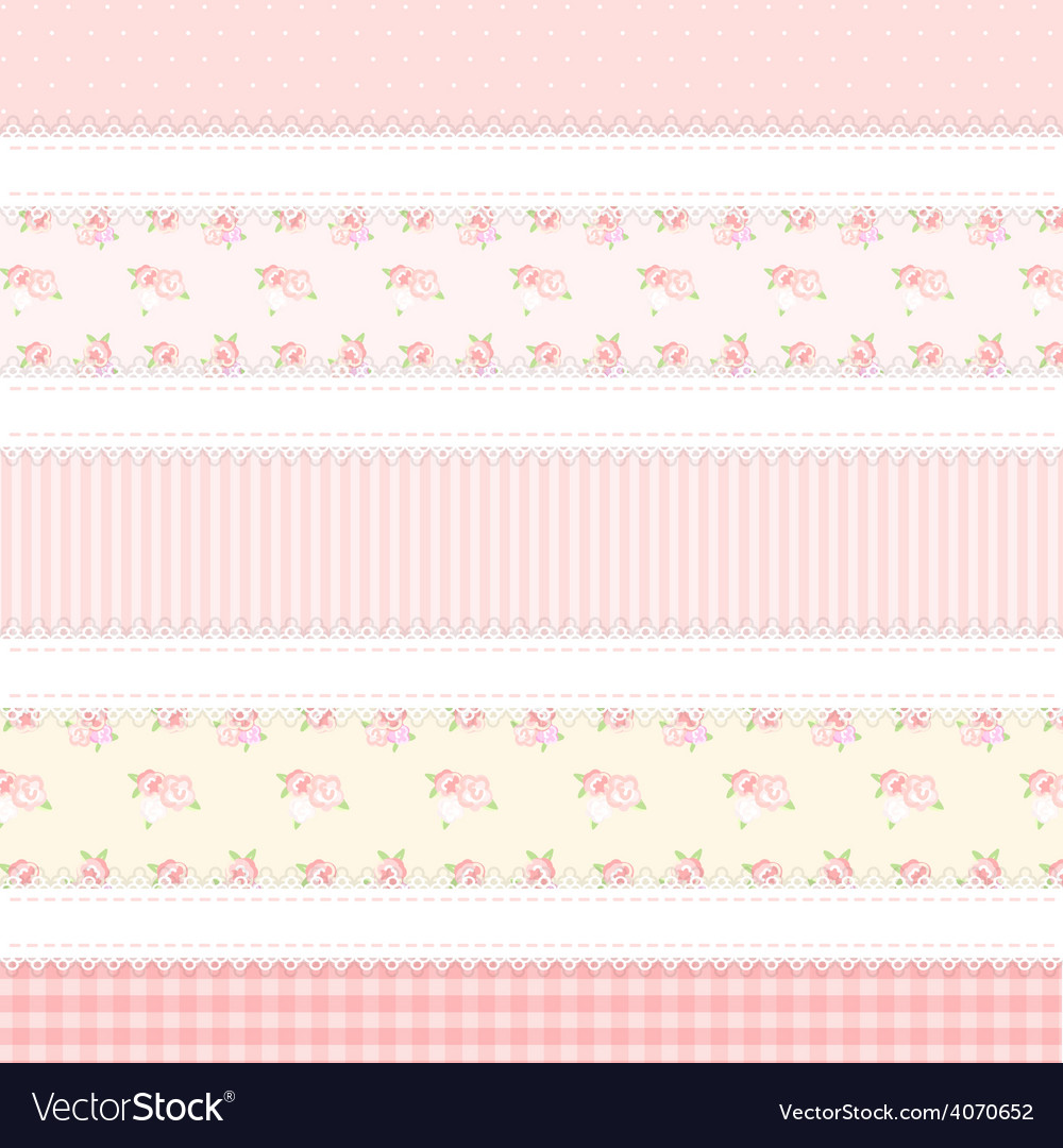 Shabby chic provence style 5 backgrounds vector