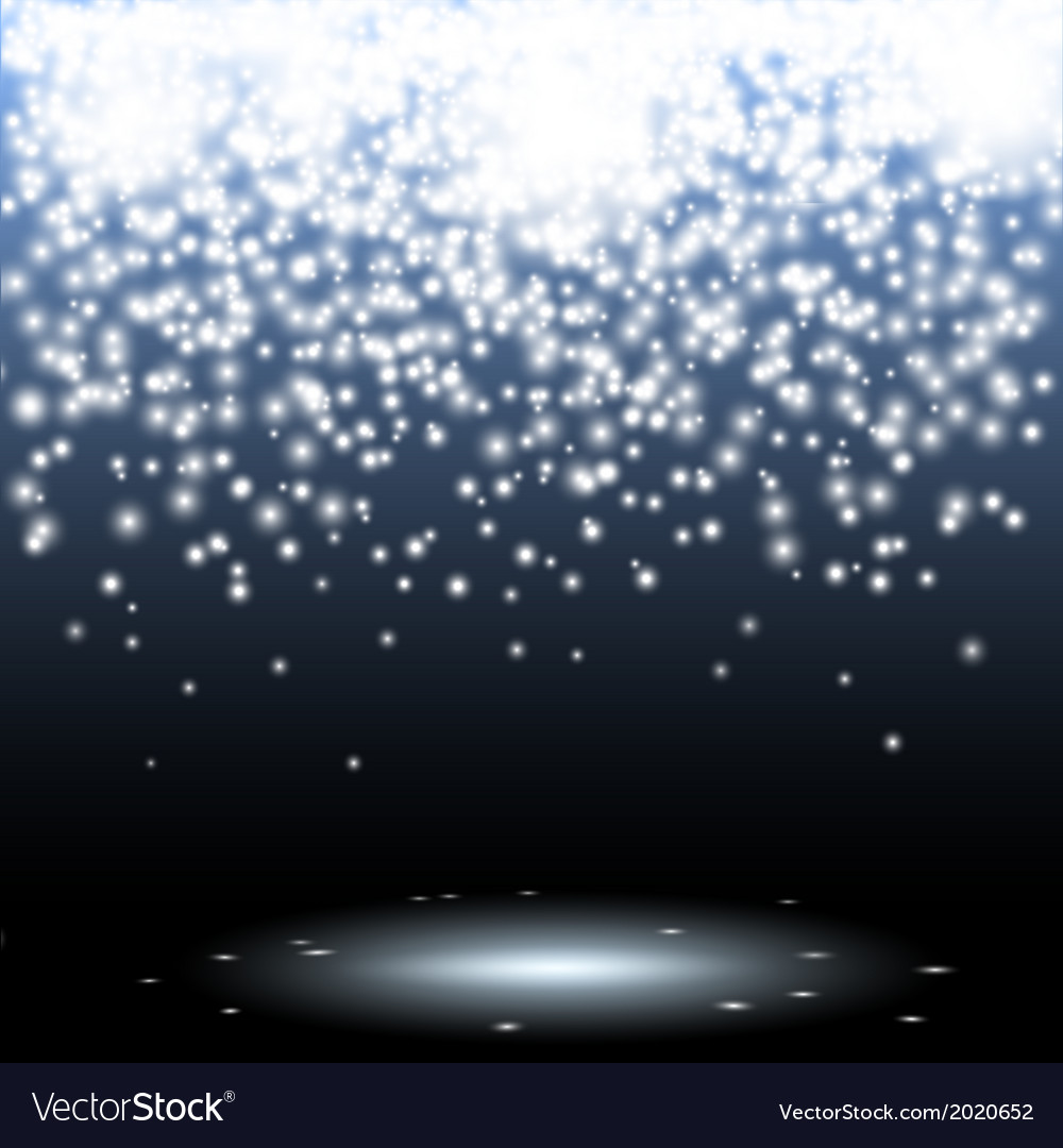 Sparks and glitters scene background vector
