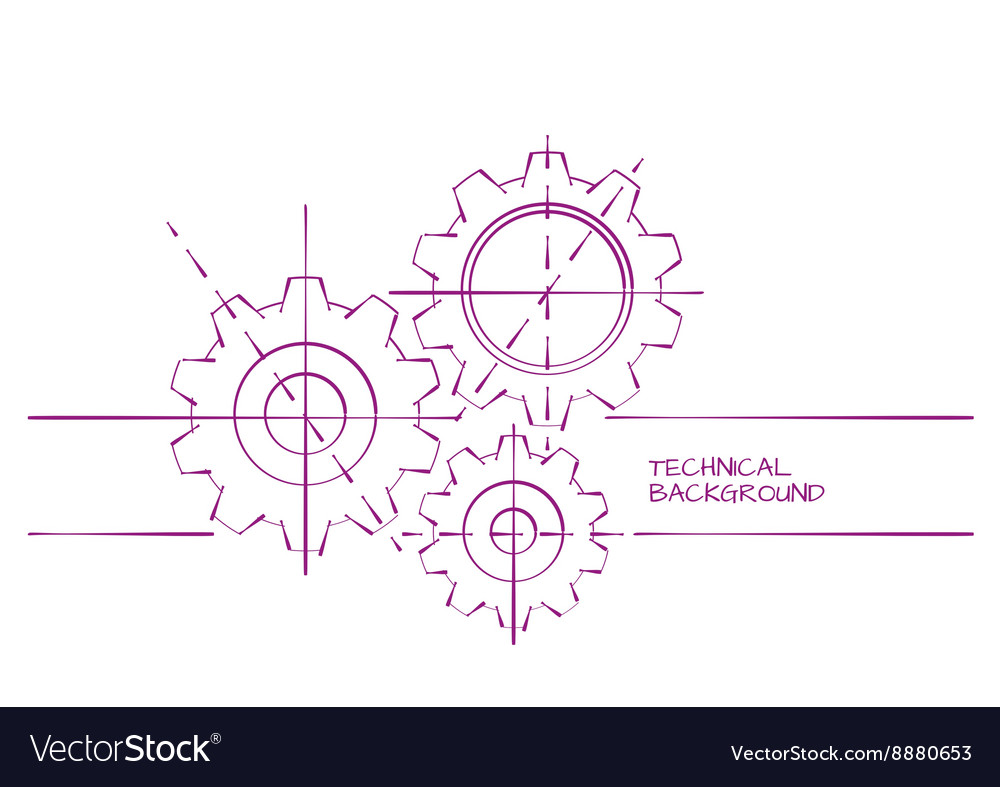 Abstract technical backgroung vector