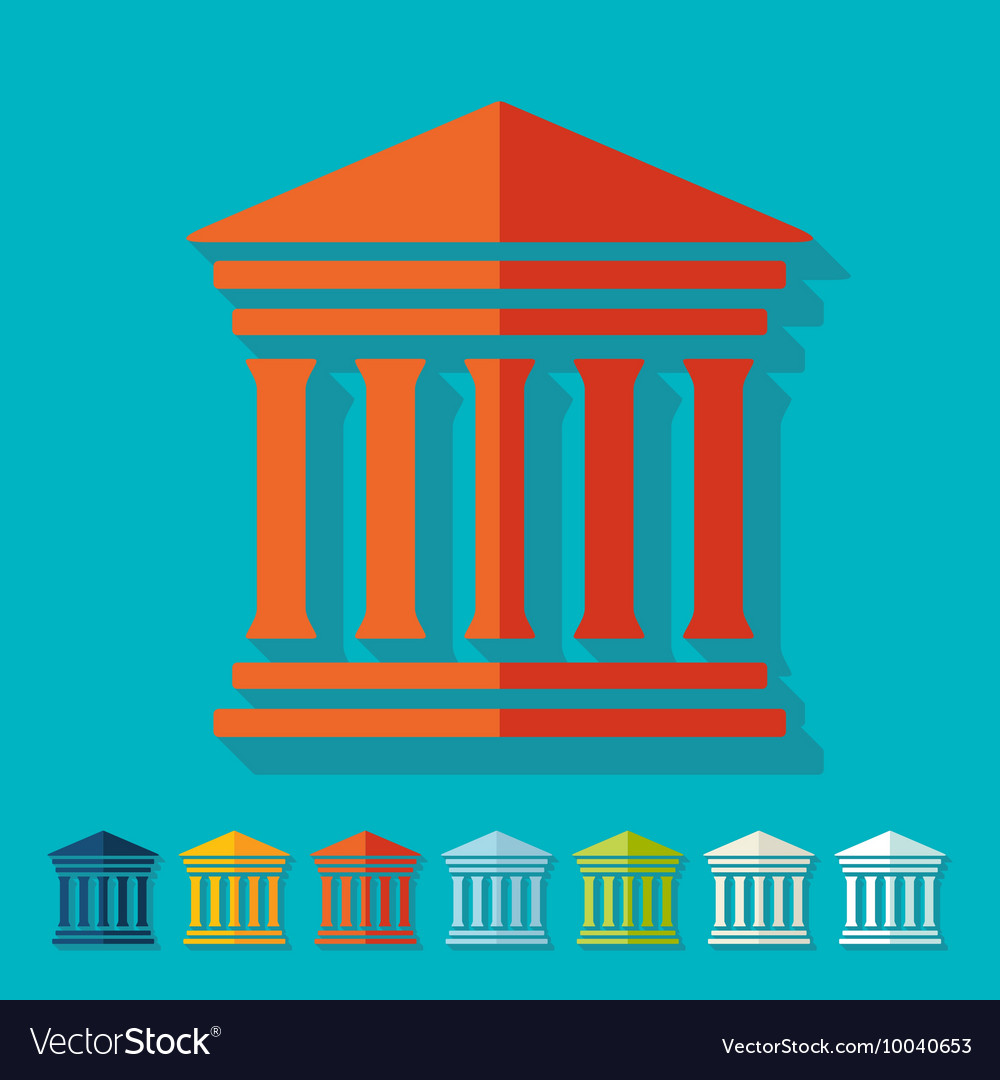 Flat design courthouse vector
