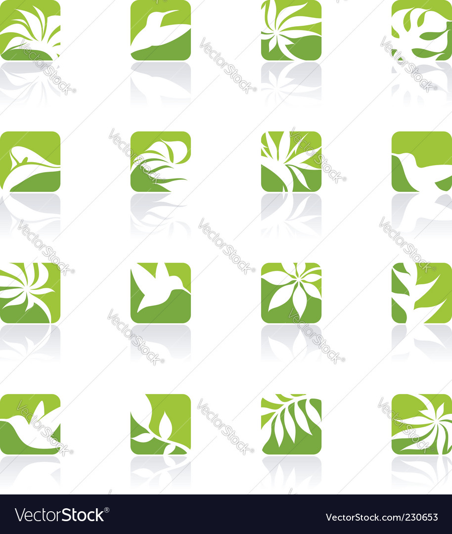 Nature elements for design vector