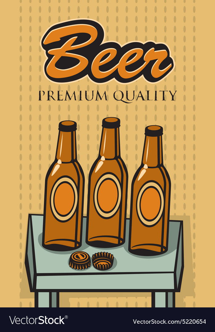 Bottles of beer vector