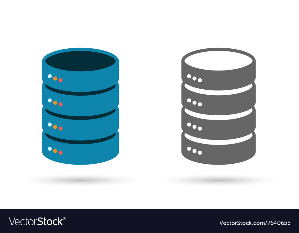Data storage flat icon vector