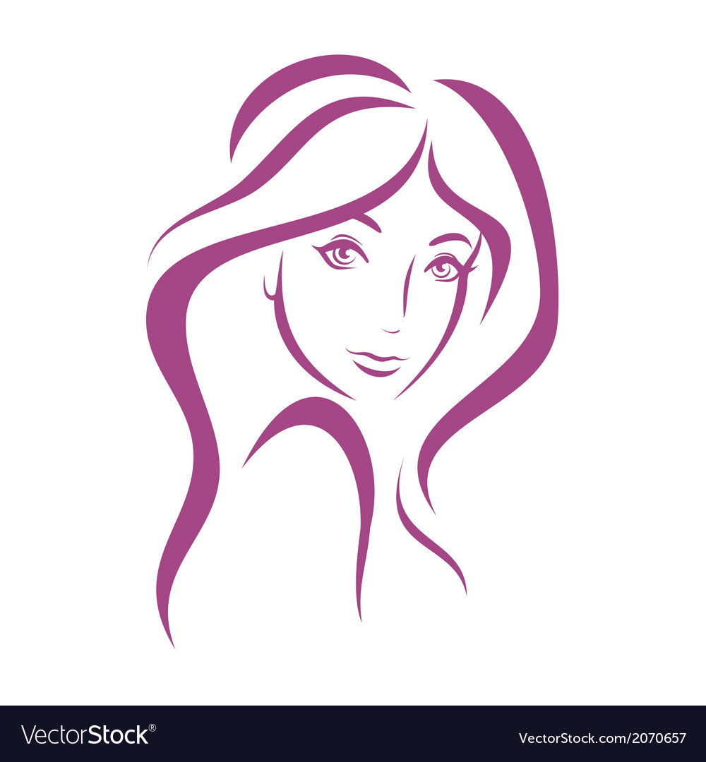 Beautiful woman face fashion concept vector