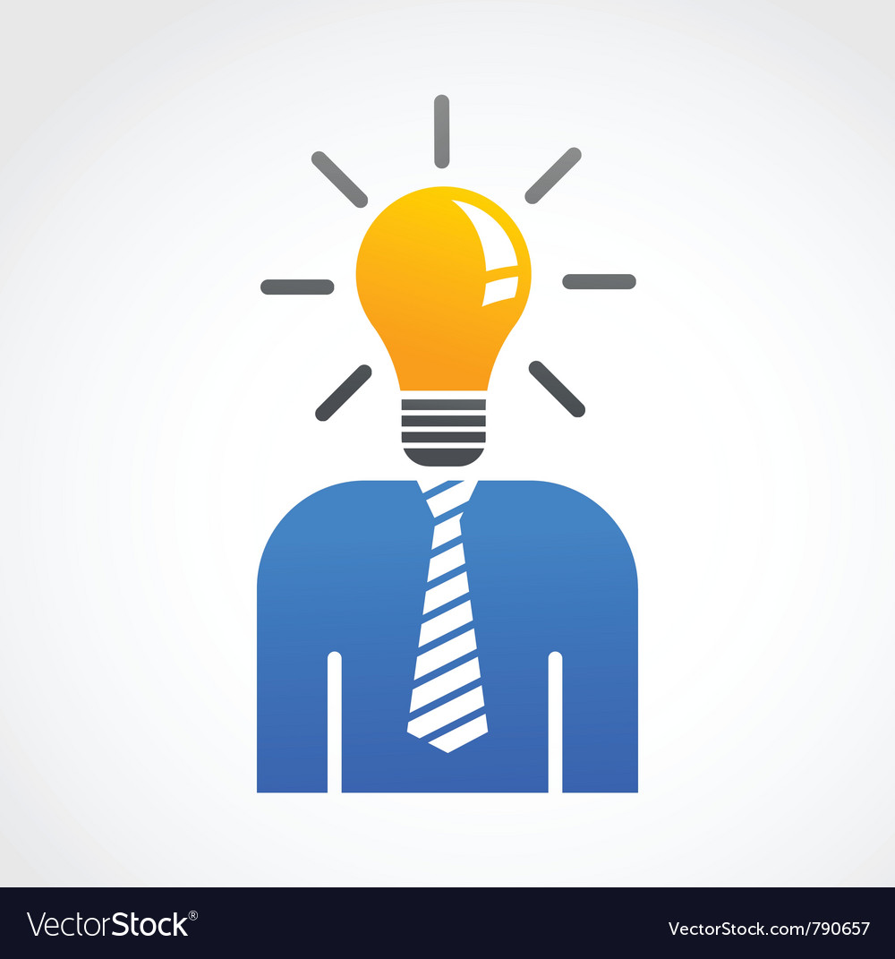 Idea and creative abstract human icon vector