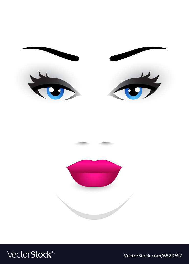 Young woman face vector
