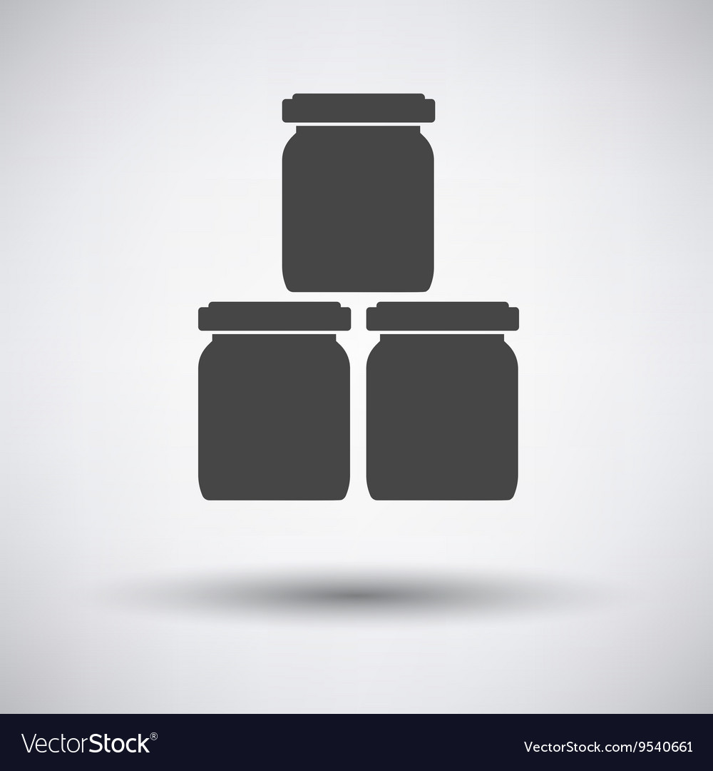Baby glass jars icon vector