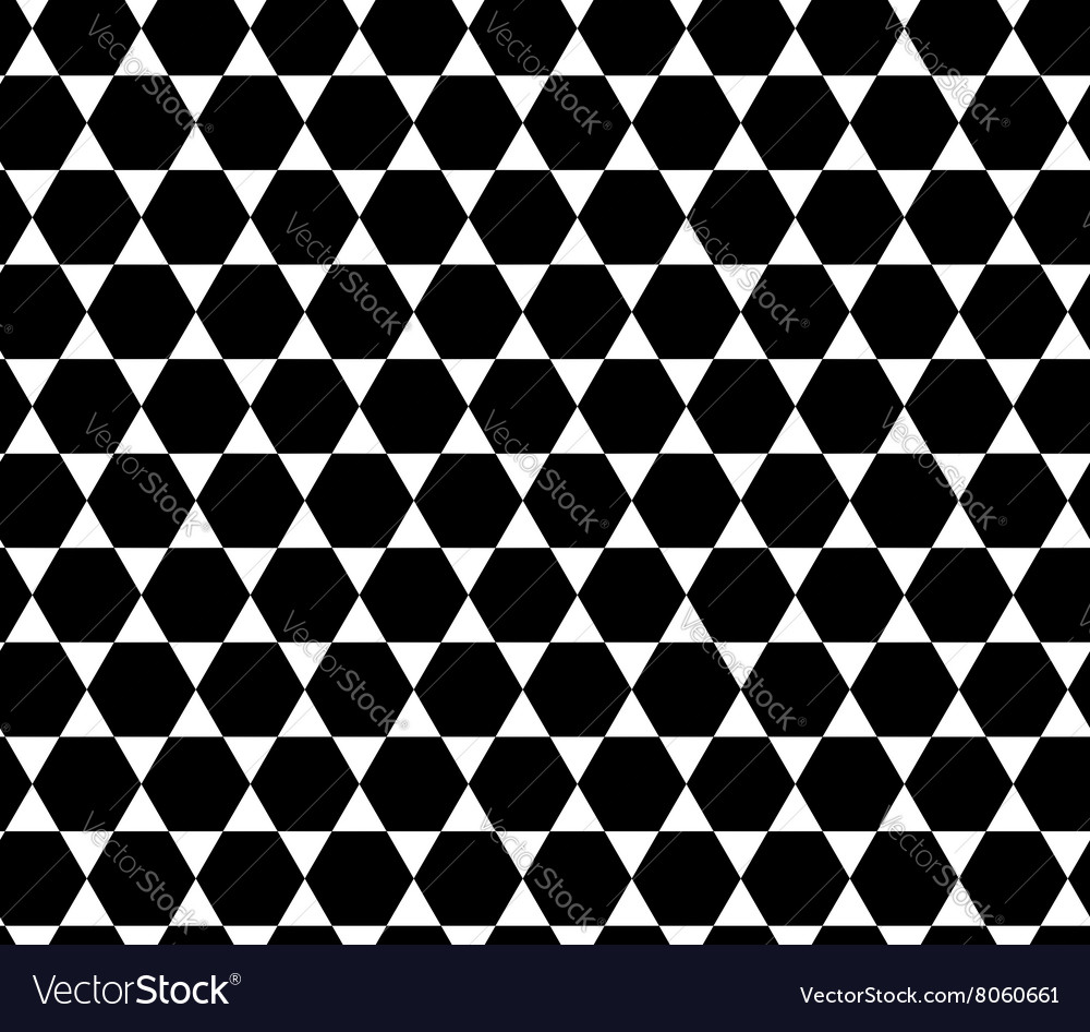 Hexagon abstract geometric seamless pattern vector
