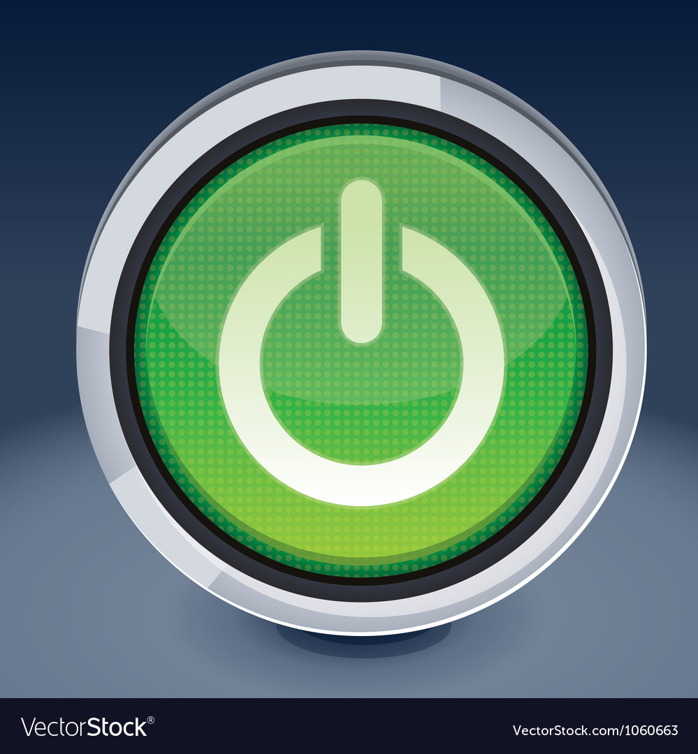 Power button  abstract design element vector