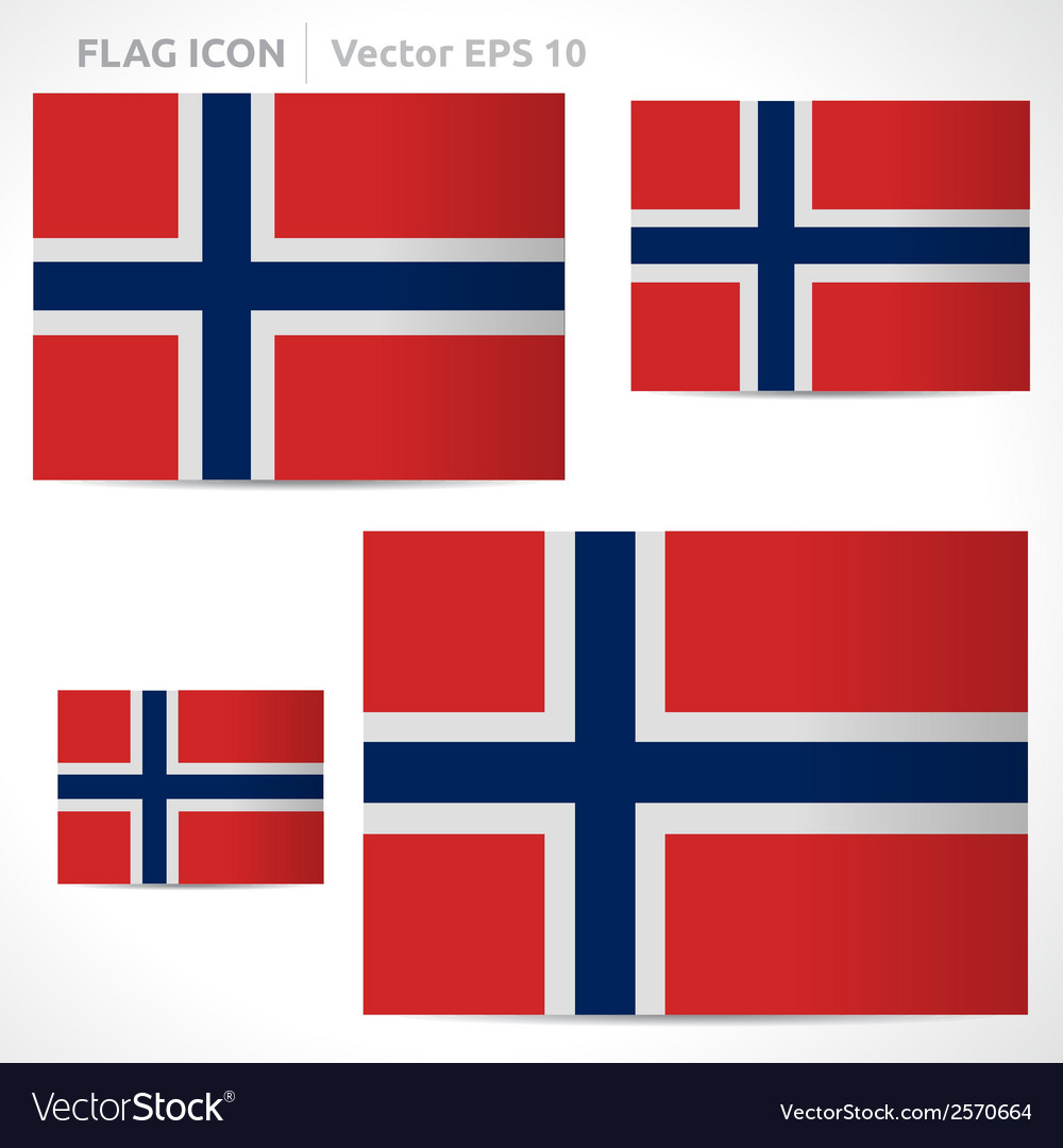 Norway flag template vector