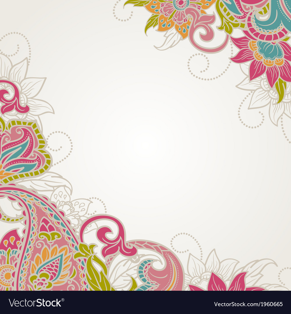 Frame with paisley vector