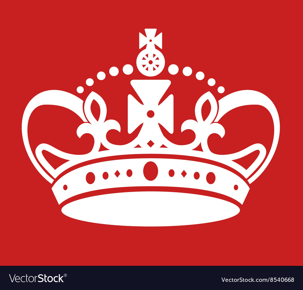 Keep calm poster similar crown imitation vector
