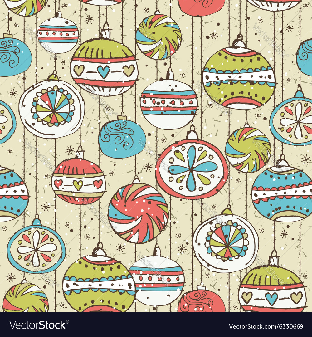 Grunge background with christmas balls vector