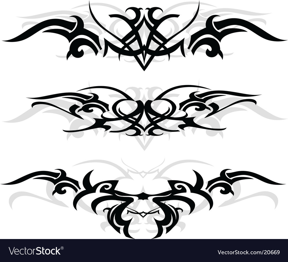 Tribal tattoo designs vector