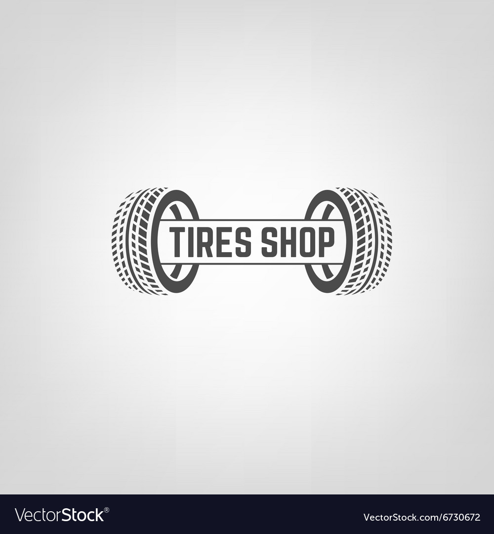 Tires shop logo02 vector