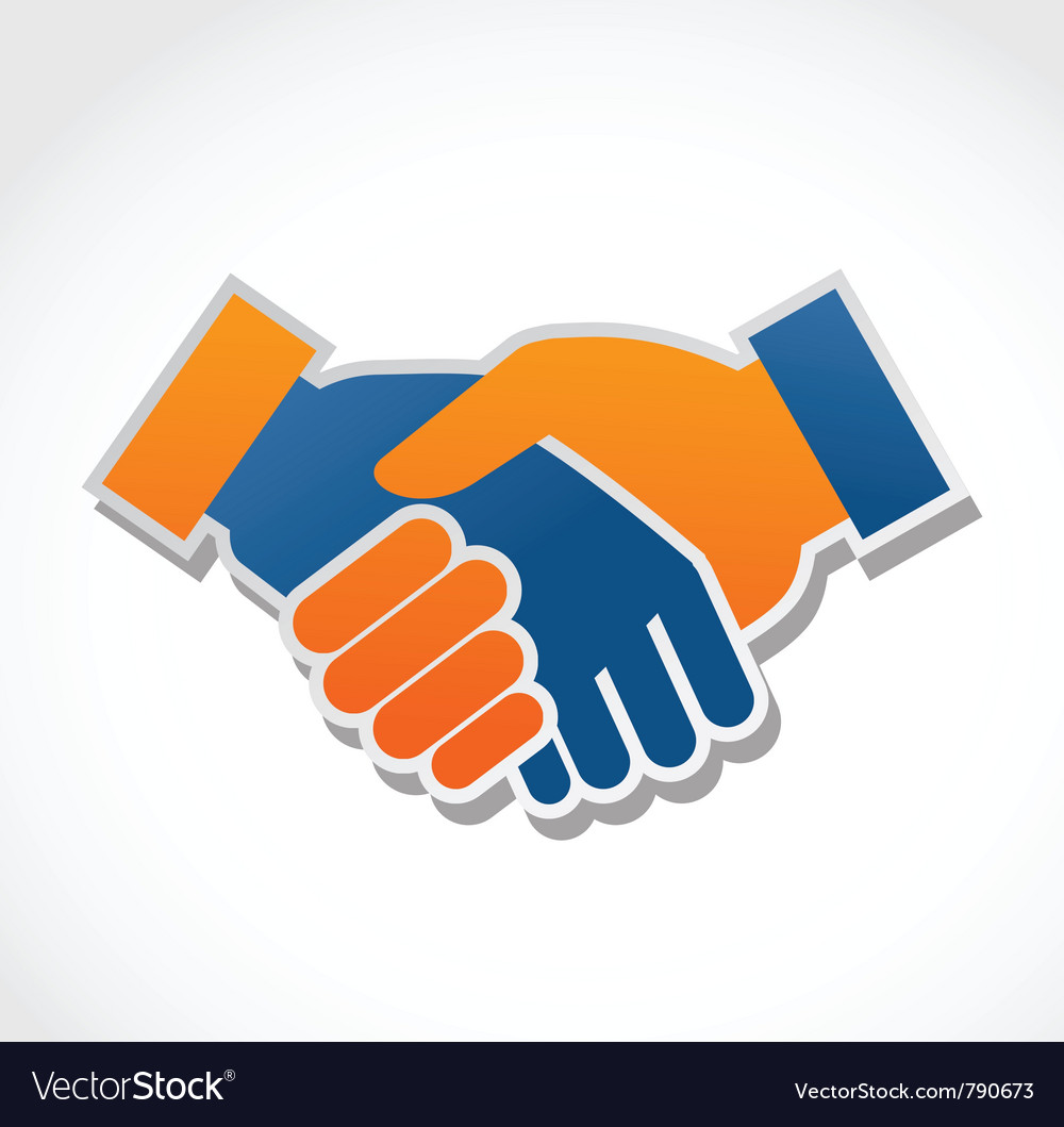 Handshake abstract vector