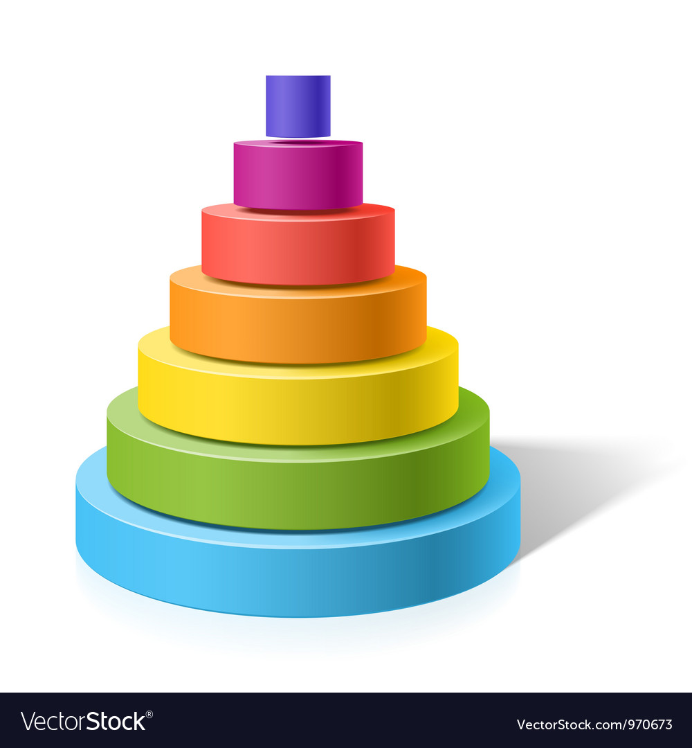 Layered pyramid vector