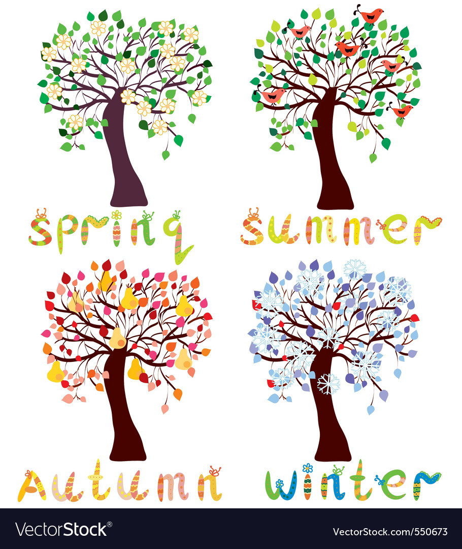 Season trees vector