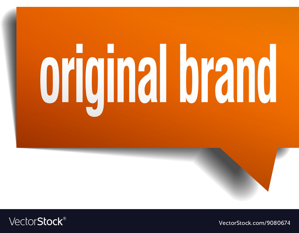 Original brand orange speech bubble isolated on vector