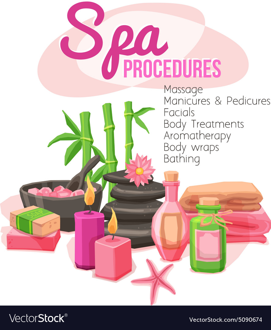 Spa procedures vector