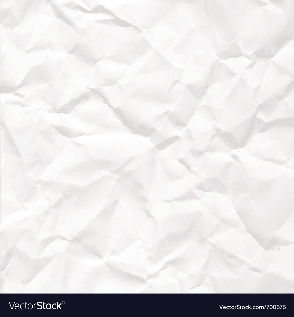 Paper crumpled vector