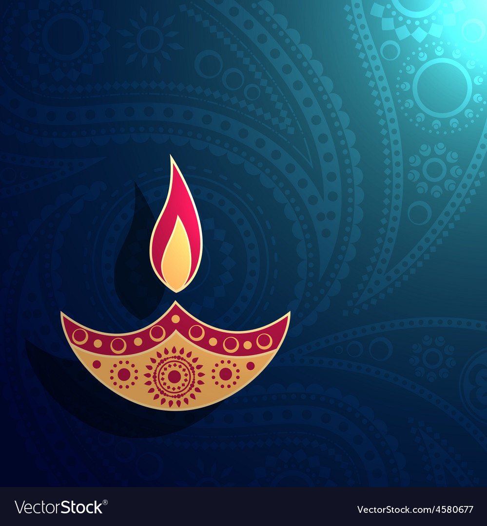 Creative diya design vector