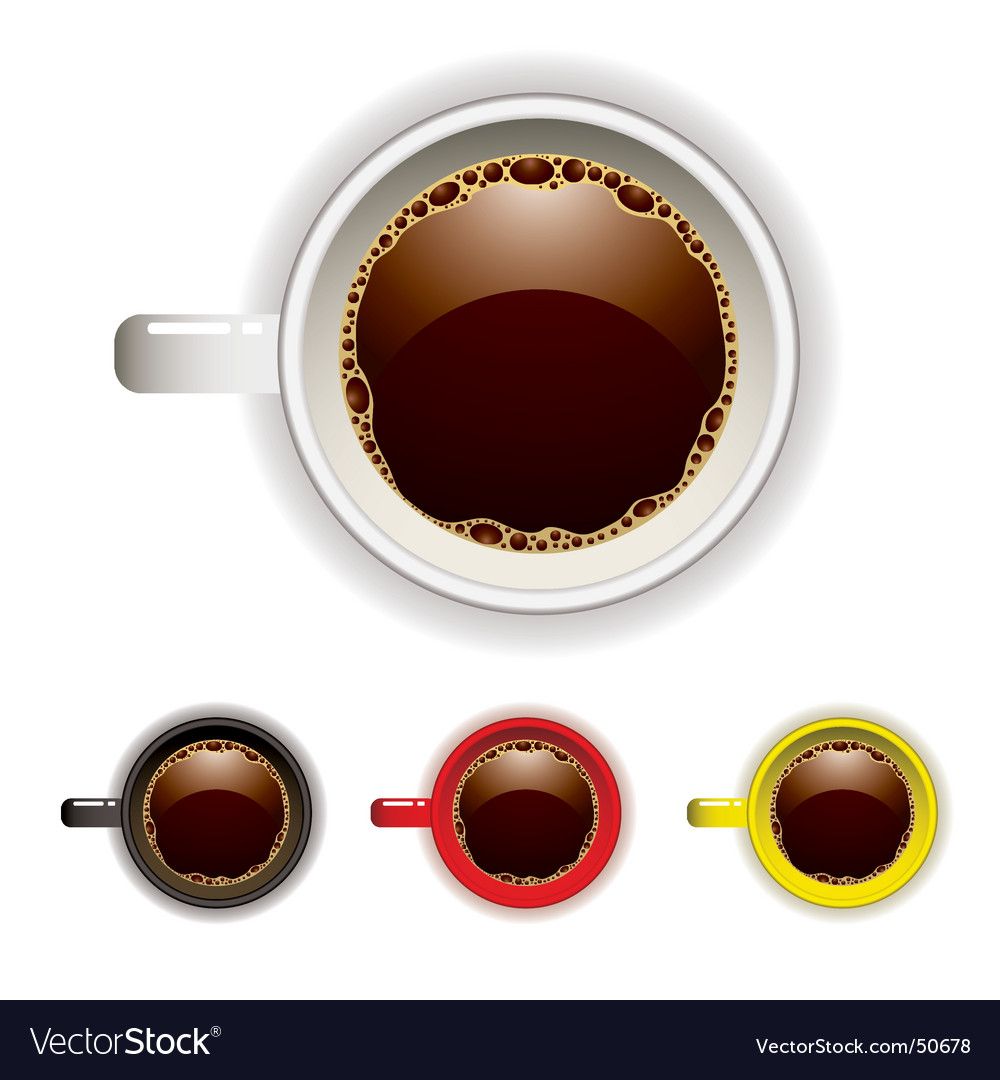 Coffee cup top vector
