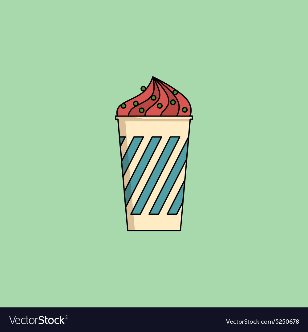 Ice cream in cup with sprinkling vector