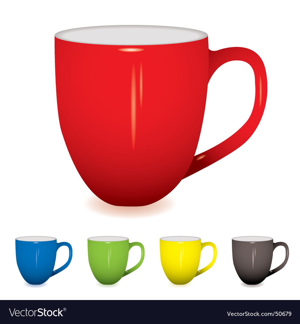 Coffee cup variation vector