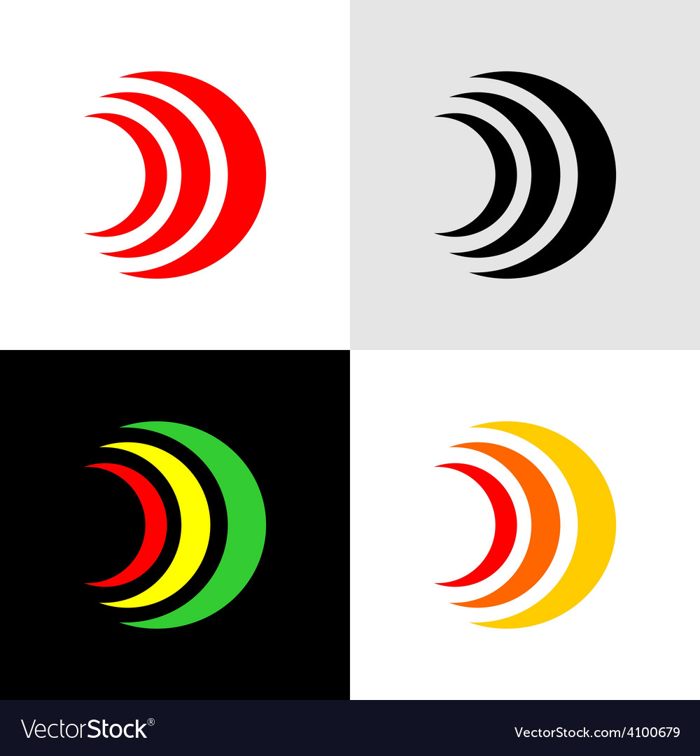 Signals or alarm icons vector