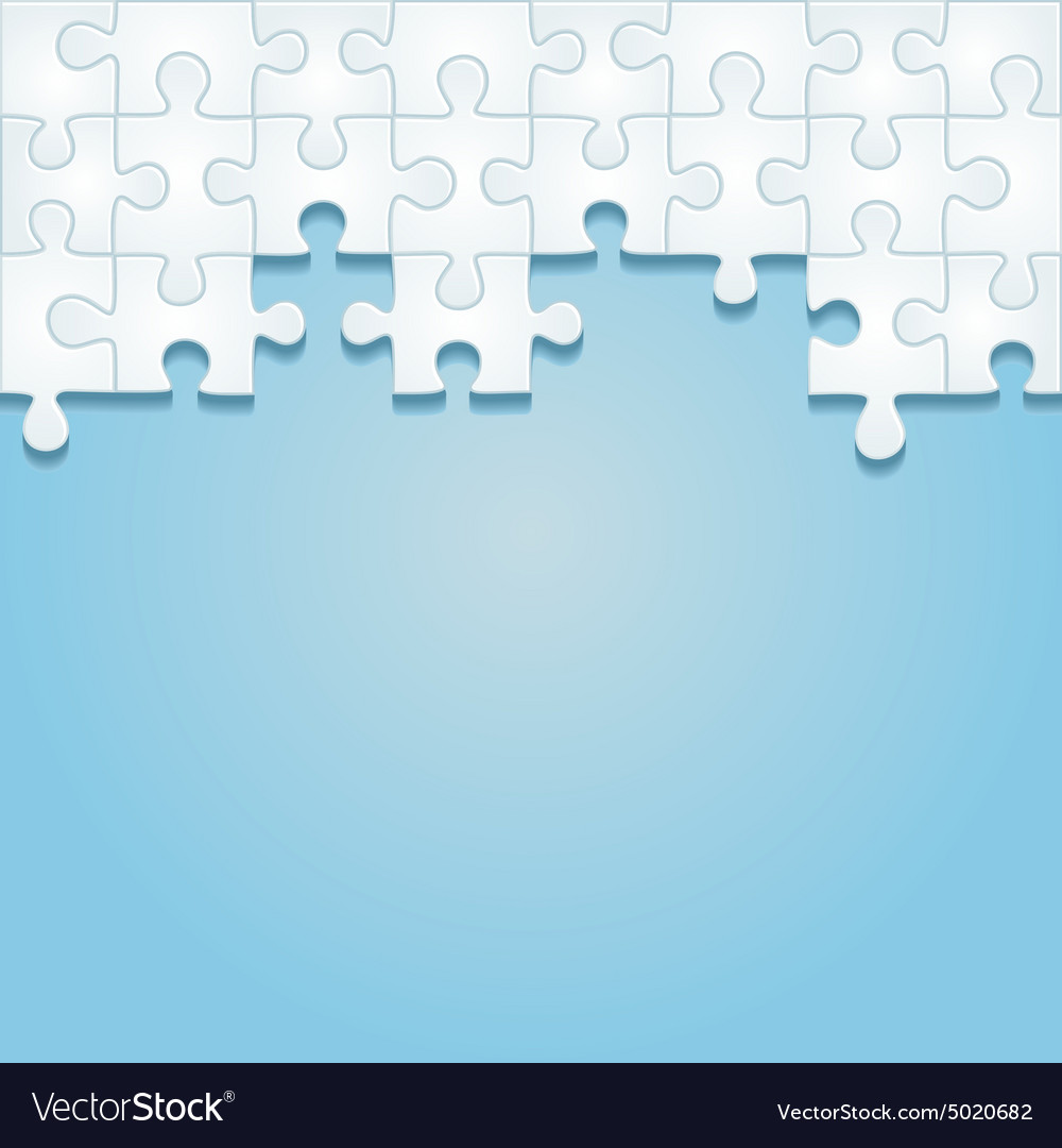 Puzzle frame background vector