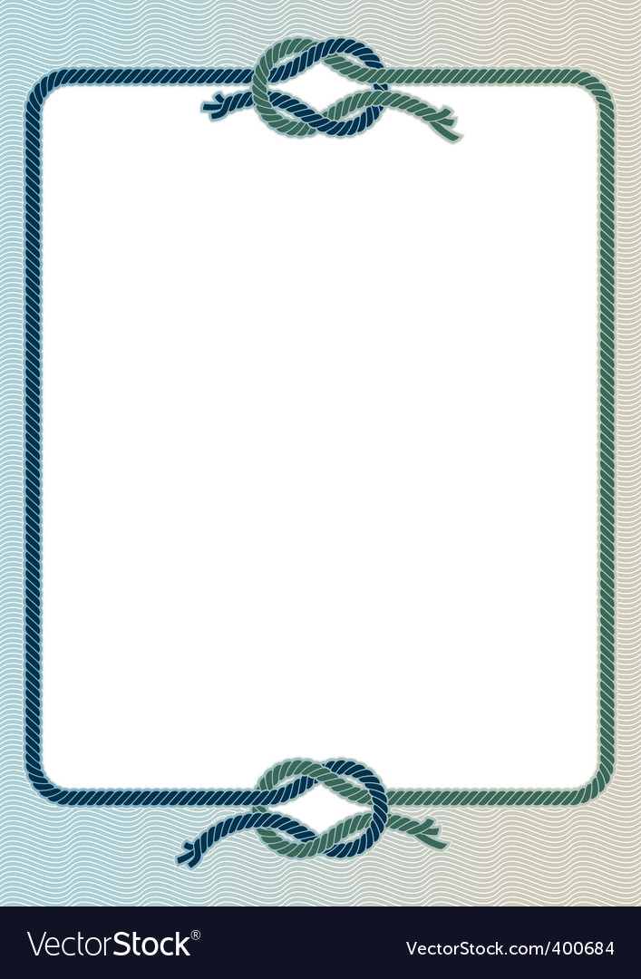 Sea knots frame vector