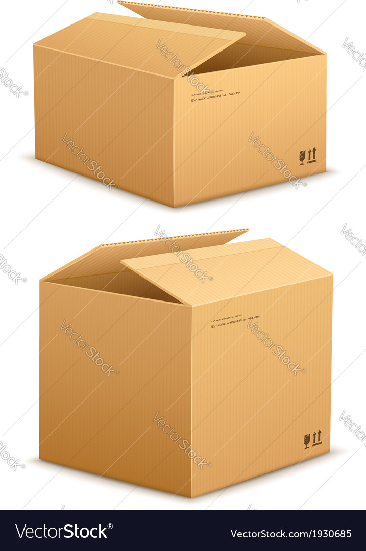 Cardboard box for packing vector