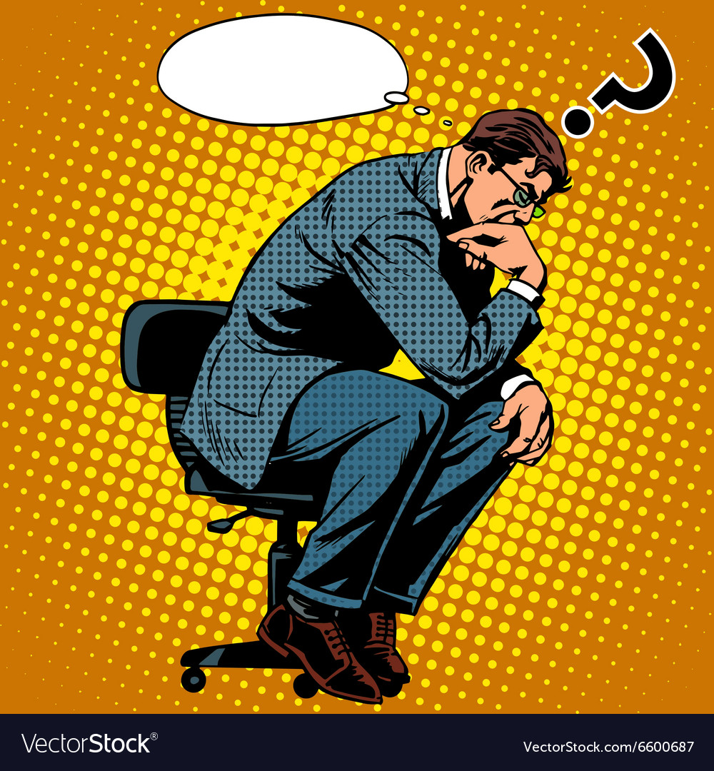 Thinker businessman business concept vector