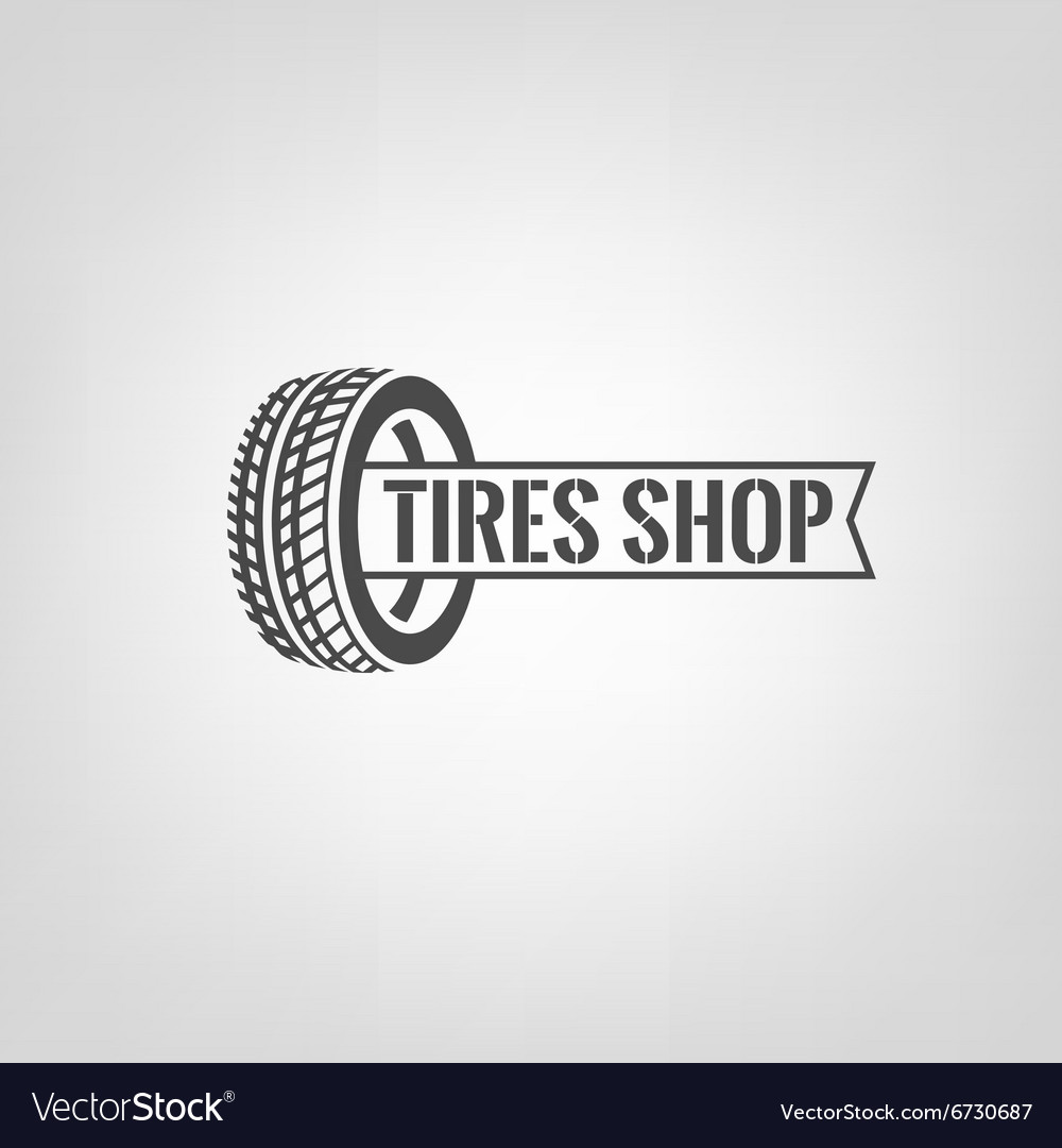 Tires shop logo01 vector