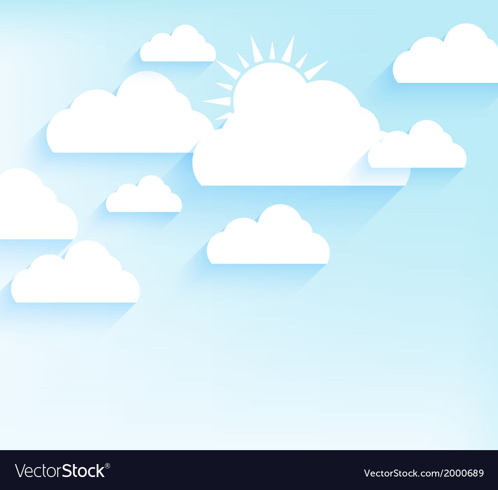 Sky background in flat style vector