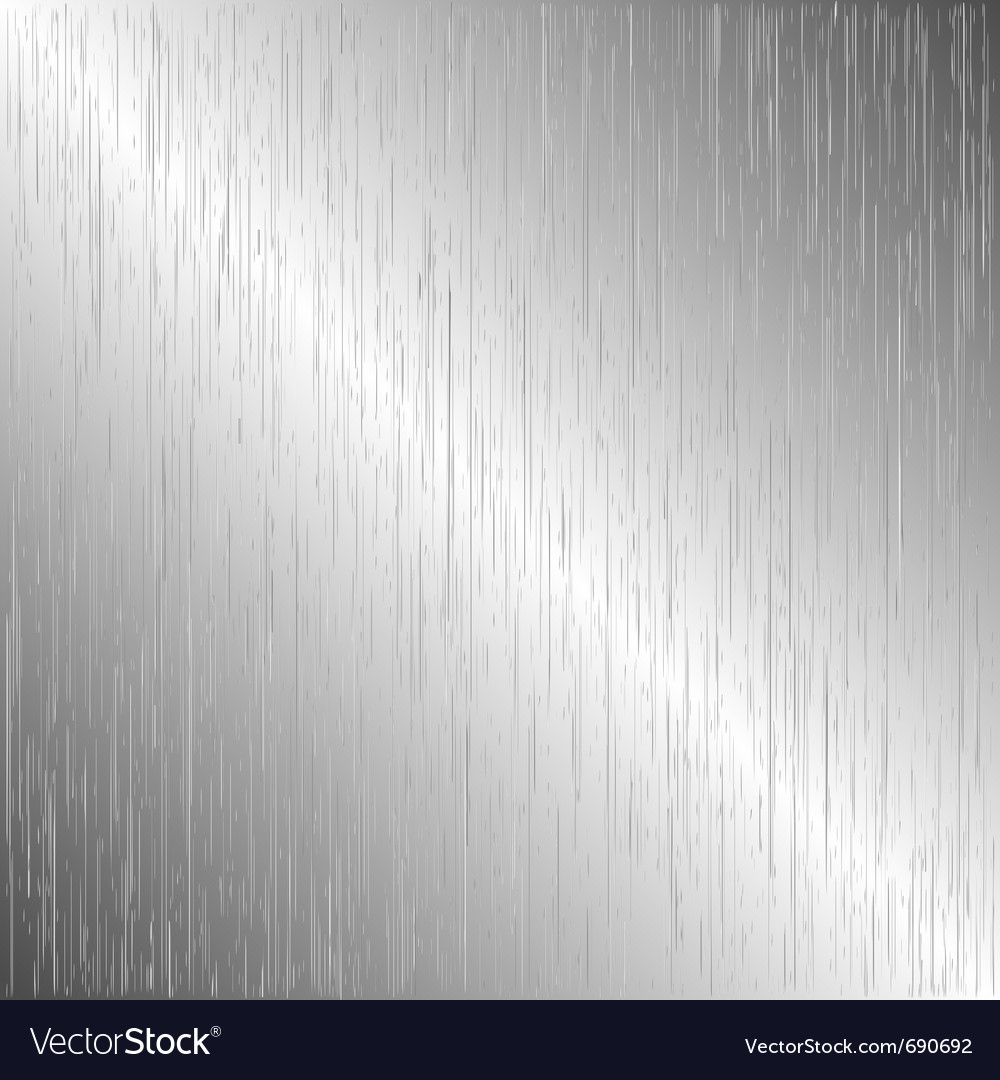 Brushed metal template background vector