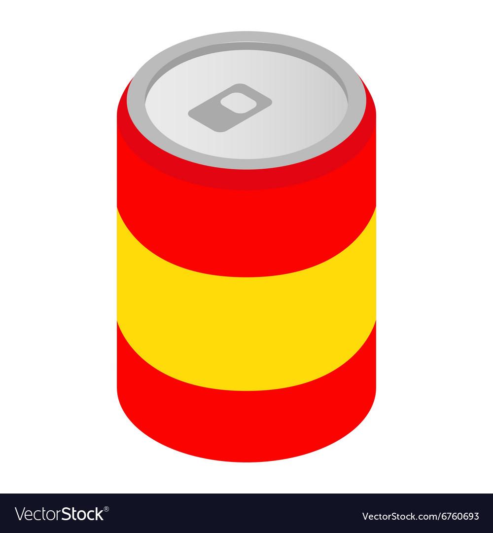Can of soda isometric 3d icon vector